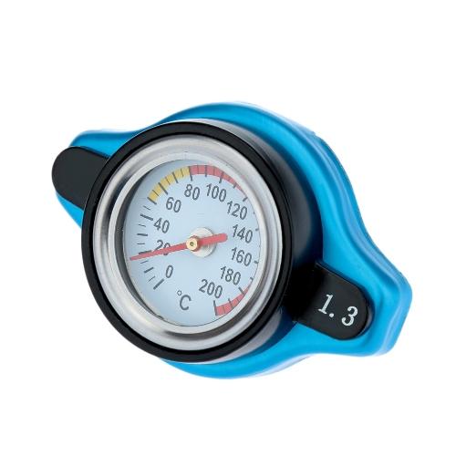 Couvre-bouchon radiateur thermostatique avec indicateur de température Temp d'eau 0,9 / 1,1 / 1.3BAR bleu