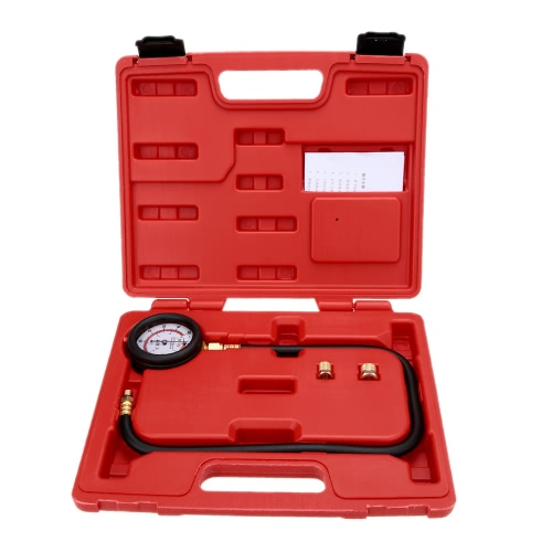 Engine Oil Pressure Tester Pressure Gauge Test Tool Kit 0-100psi