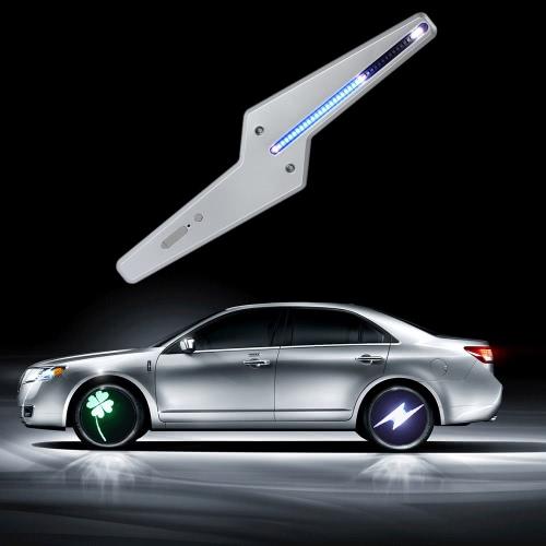 Car Colorful LED Wheel Light Super Cool Autimatic Shine Wheel Lamp Programmable 50 Patterns DIY Flash Animation