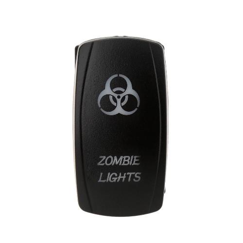 KKmoon ON-OFF Laser Etched Rocker Switch ZOMBIE LIGHTS SPST 5Pin 2LED Light 12-24V