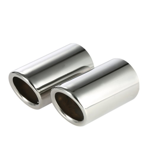 Pair of Car Stainless Steel Exhaust Tail Pipes Muffler Tips for VW Golf Tiguan Passat Touran for BMW 325i 328i