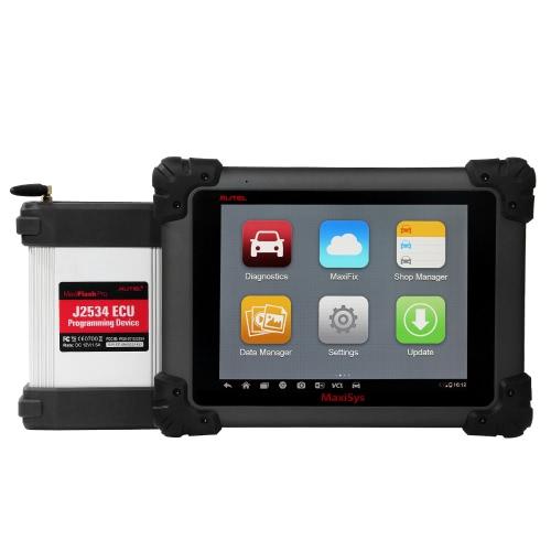 9.7inch autel MaxiSys Pro Car Diagnóstico Ferramenta de verificação WiFi completo Código Scanner System 1024 * 768 Tela LED com câmera traseira