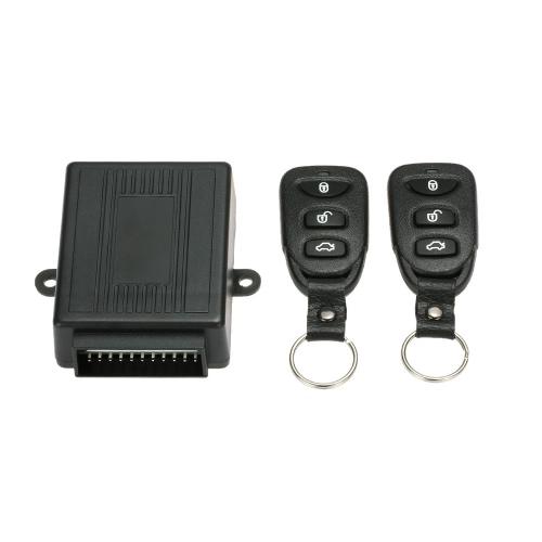 Système de porte d'entrée de voiture universel de verrouillage sans clé avec bouton de déverrouillage du coffre Kit Control Box Remote Central