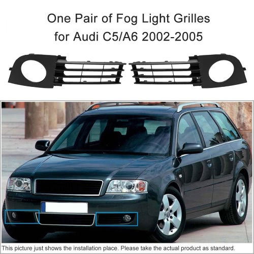 Pair of Fog Light Grilles for Audi C5/A6 2002-2005