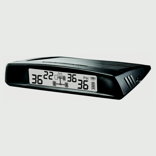Steelmate TP-S2 Car TPMS Tire Pressure Monitoring System with LCD Display 4 Valve-cap Sensors