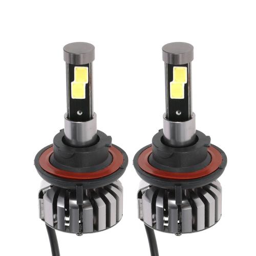 KKmoon Par de H13 DC 12V 40W 4000LM 6000K LED lámpara de la linterna Bombillas Kit