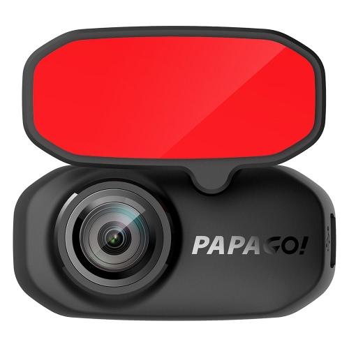 PAPAGO 2,7 pulgadas Gosafe 360 Dual Lens coche DVR con cámara trasera