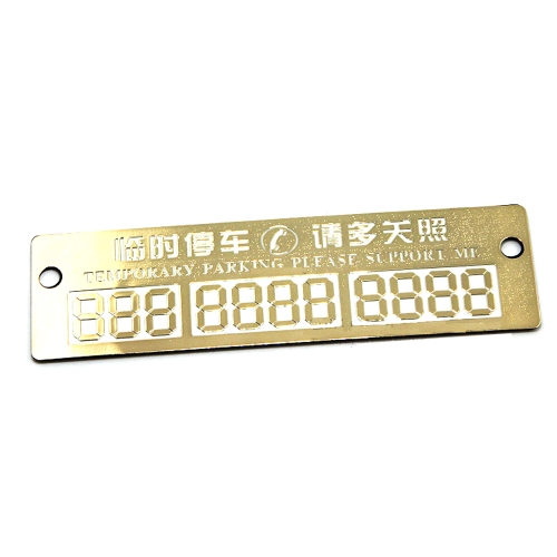 Practical Car Luminous Parking Stickers Bright Temporary Parking Card With Suckers And Phone Number Card Plate