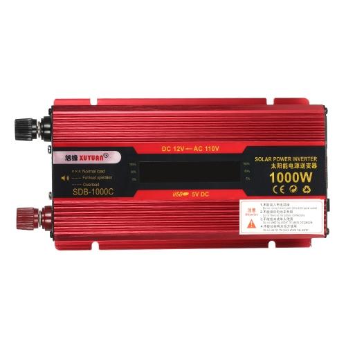 1000W WATT Peak Car LED Power Inverter DC 12V to AC 110V Dual Converter Charger