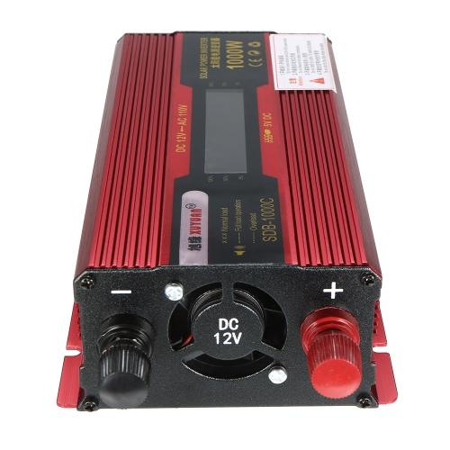 1000W WATT Pic voiture onduleur DC 12V à AC 110V double convertisseur chargeur