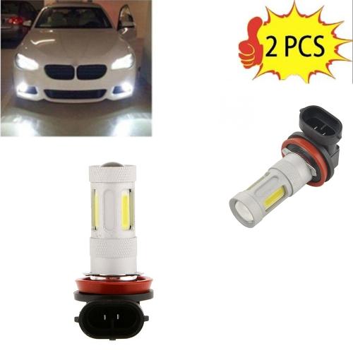 2 Pcs High Power COB LED Fog Light H11 Car Driving Lamp 80W