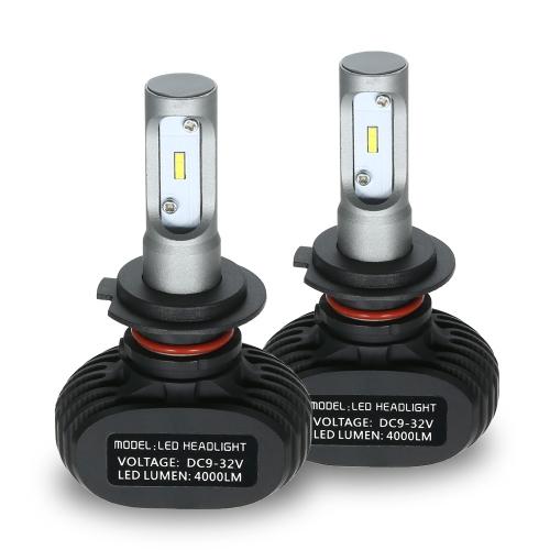 Car Headlights Kit for H1 S1 50000mW  2400000mcd 6000K White led headlights Bulbs Pair HID