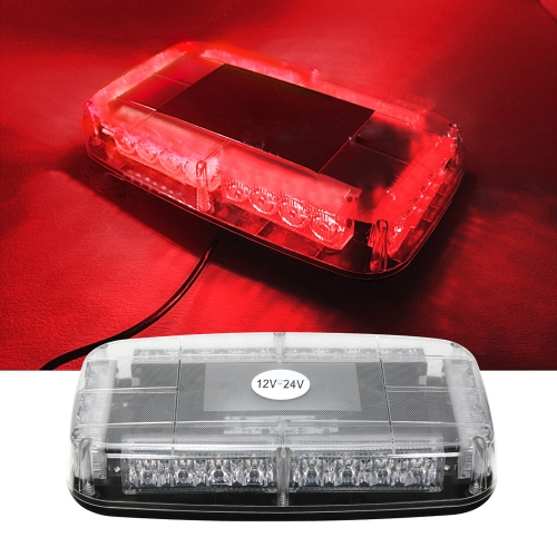 12v Car Roof Led Strobe Lights Bar Police Emergency Warning Fireman Flash Led Police Lights  red and blue