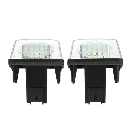 2PCS NO Luz de placa de matrícula de número de erro LED para Peugeot 206/207/307/308 para Citroen C3 / C4 / C5