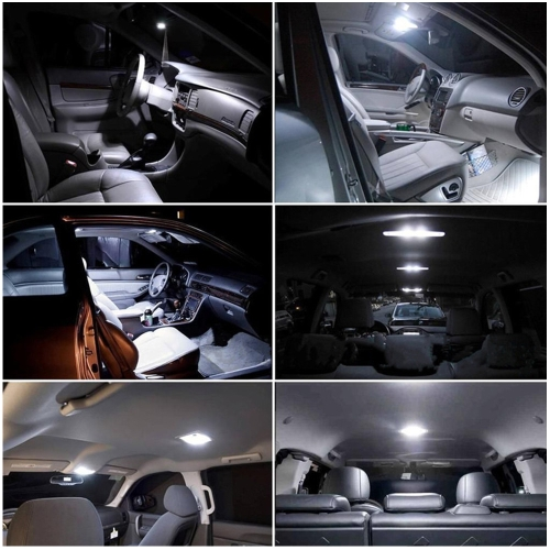 SMD 3528 LED Panel White Car Reading Map Lamp  Auto Dome Interior Bulb Roof Light with T10 Adapter K6253-3
