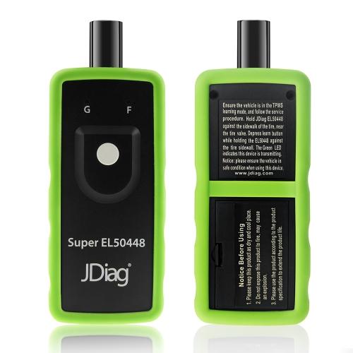 JDiag Super EL50448 Auto Sensor de presión de neumáticos Sensor TPMS Reaprender Restablecer herramienta de activación