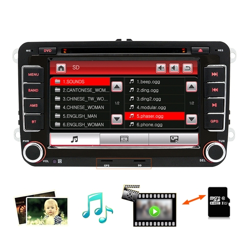 Junsun 2531-S Multifunction BT Car DVD Przenośny ekran dotykowy Auto MP3 Player