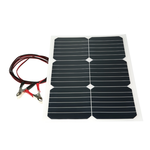 Pannello solare semiflessibile da 20 W 12V con chip Sunpower per caricabatterie Cara Cara