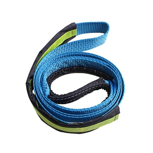5cm*5m 2''x16' 17637lbs Synthetic Winch Rope Cable with U-shaped Hook,Blue K6893-3