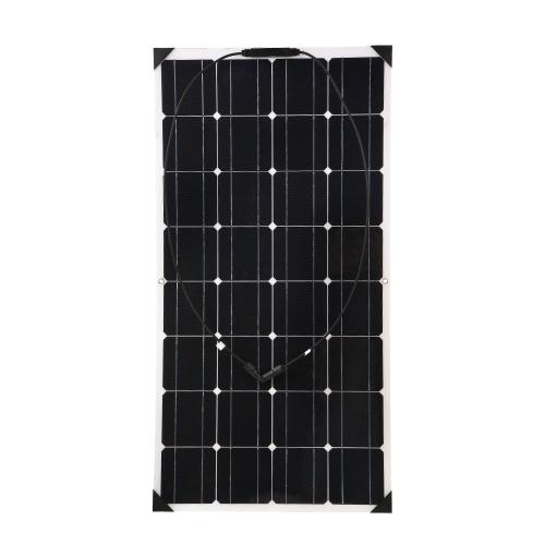 柔軟なソーラーパネル18V 100W高Qulity車ソーラーパネル中国ジャンクションボックスRVのための防水IP65