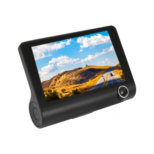 Registratore automatico di retrovisione del registratore di guida del video della macchina fotografica dell'automobile di 3 vie DVR di 4.0in