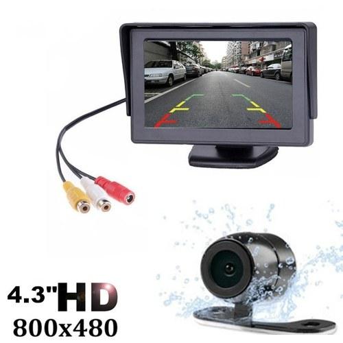 4,3 polegadas TFT LCD Car Rear View Camera Monitor de Backup Kit