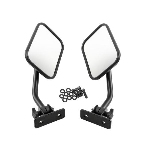 Зеркала бокового вида Дверь с зеркала Прямоугольные зеркала 4x4 Быстроразъемное зеркало для бездорожья, пригодное для Jeep Wrangler K10944