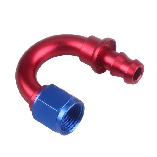 Ajuste de extremo de la manguera de bloqueo de presión AN8 Extremo de la manguera de empuje 180 grados