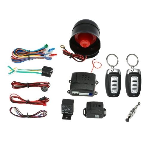 Универсальная автомобильная охранная система Противоугонная сигнализация Противоугонная система 2 Пульт фото
