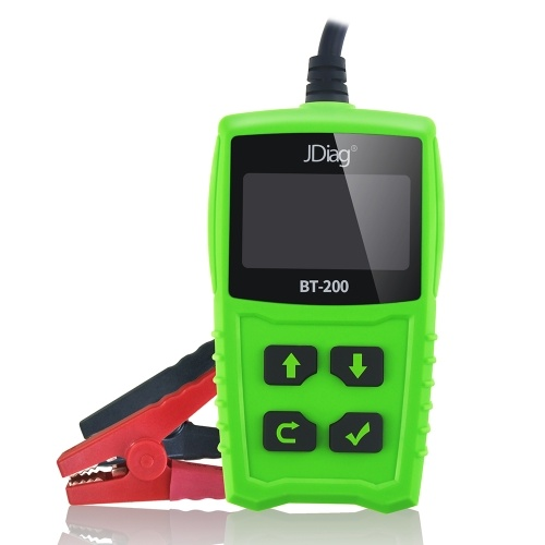 JDiag FasCheck BT200 12V Car Battery Tester Auto Cranking and Charging System Test Scan Tool Battery Analyzer Diagnostic Tool for CCA MCA JIS DIN IEC EN SAE GB etc
