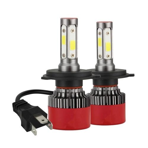 4 Side H4 LED Headlight Kit Bulb LED Headlamp 2800W 280000LM 6000K Cool White 2 Pack