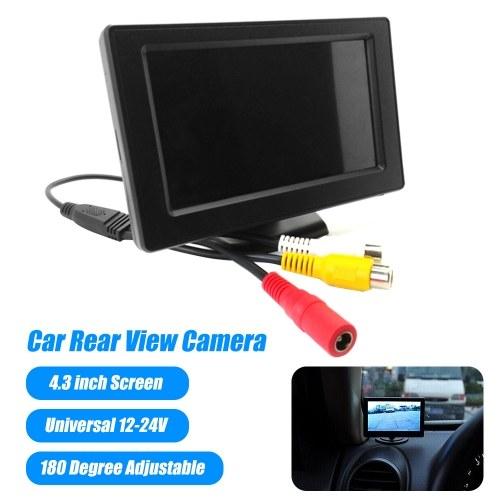 Schermo LCD da 4,3 pollici Videocamera per retromarcia per auto Schermo per monitor retromarcia regolabile di 180 gradi per parcheggio SUV Van per veicoli