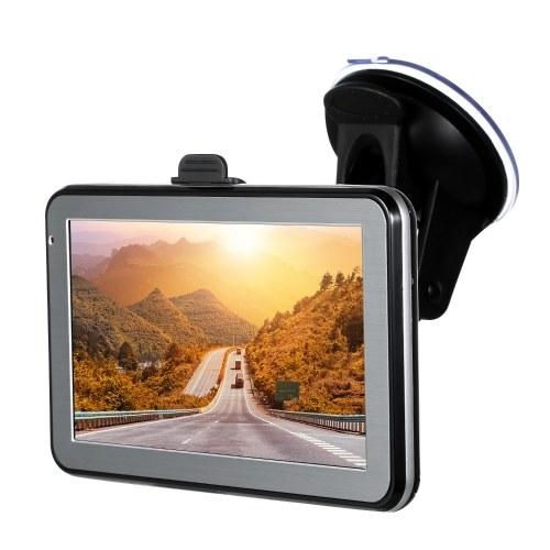 5-дюймовый автомобильный GPS-навигатор 128М 8ГБ FM-видео плеер Автомобильный навигатор с поддержкой на задней панели + бесплатная карта HD с сенсорным экраном фото