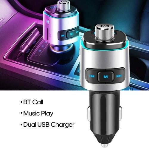 BC42 Car MP3 Player Multifunción BT4.2 Transmisor FM Cargadores USB duales Soporte Tarjeta manos libres TF Disco U Música Play
