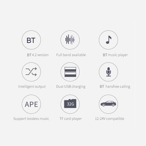 BC42 Автомобильный MP3-плеер Многофункциональный BT4.2 FM-передатчик Dual USB Зарядные устройства Поддержка TF-карты громкой связи U Диск Music Play