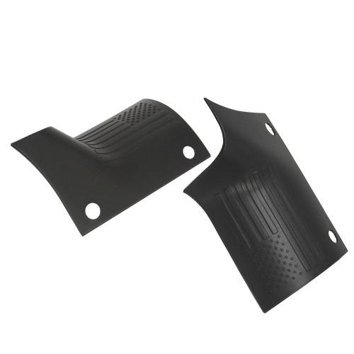 2 piezas ABS Motor Capó Guardias Trim Flag Hood A Pilar Wrap Angle Decorativo Cubierta Marco Reemplazo de ajuste para Jeep Wrangler JL 2018-2019
