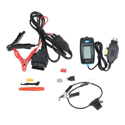 Car Automotive Diagnostic Test Tool Circuit Tester Electric Leakage Detector Car Dark Current Tester Probe Kit Digital LCD Display