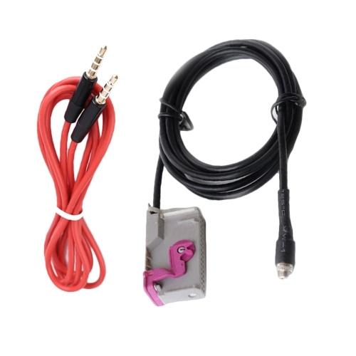 Adaptador AUX de unidad principal RNSE para coche con conector de 3,5 mm RNS-E Reemplazo de cable auxiliar para AUDI A4 A6 A8
