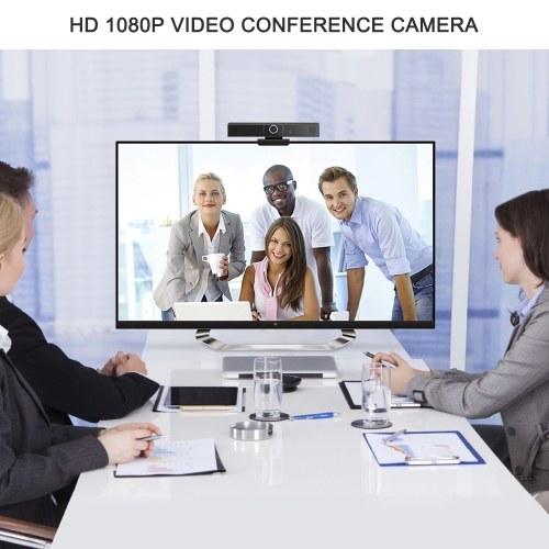 Wide Angle Webcam Large View Video Conference Camera Full HD 1080P Live Streaming Web Cam with Built-in Microphone