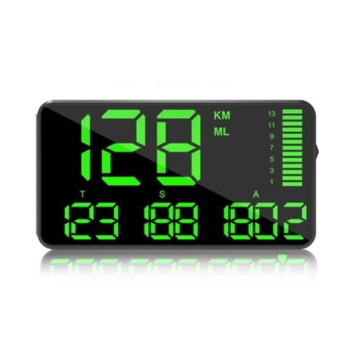 C90 Pantalla de velocidad del velocímetro de visualización frontal del coche de 5,5 pulgadas para la alarma de sobrevelocidad automática del coche
