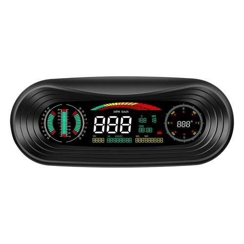 Умный GPS измеритель наклона автомобиля HUD ЖК-дисплей автомобиля Head Up Display