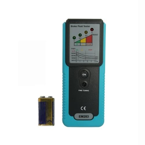 Probador de líquido de frenos automotriz Detección de agua de humedad de aceite con pantalla de indicador LED de sonda de alta precisión