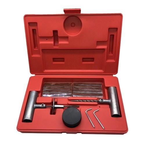 Kit de reparación de neumáticos universales de 35 piezas Reparación de pinchazos de neumáticos planos para automóviles, camiones, motocicletas