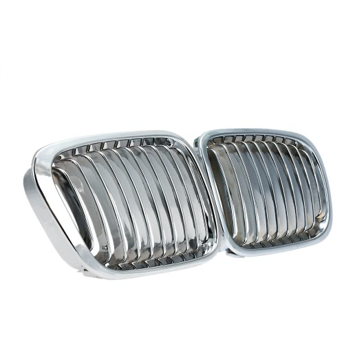 One Pair Plated Chrome Silver Front Grilles
