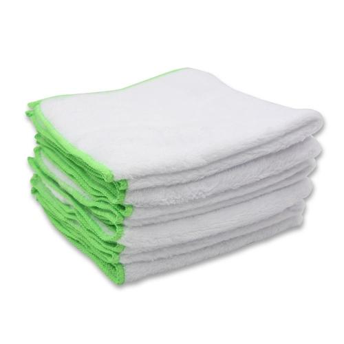 6PCS Soft Microfiber Coral Fleece Car Cleaning Towel Cloth Multifunctional Wash Washing Cloths 35*35cm