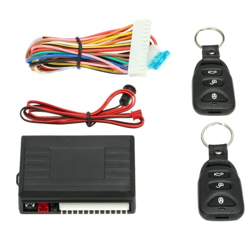 Universal Remote Central Control Box Kit Car Door Lock Keyless Entry System with Trunk Release Button