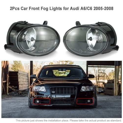 One Pair of Car Front Fog Lights LED Lamp for Audi A6 C6 2005-2008 4F0941700