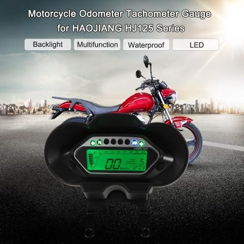 LCD Digital Backlight Motorcycle Odometer Speedometer Tachometer Gauge for HAOJIANG HJ125 Series