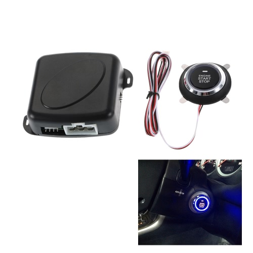 Car Engine Push Start Button RFID Safe Lock Ignition Switch Keyless Entry Starter Anti-theft System