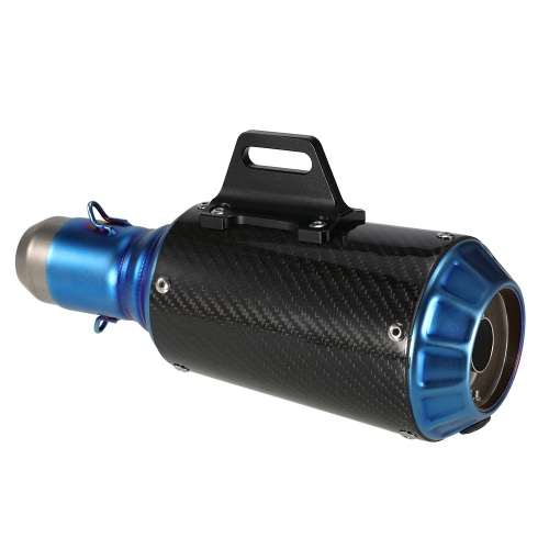 51 mm Refit Exhaust Muffler Carbon Fiber Muffler Pipe with Blueing Tail for Motocycle ATV Universal